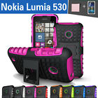 TPU Case Cover For Nokia Lumia 530 Silicone Shockproof Heavy Duty With Kickstand