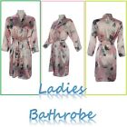 New Pink Sexy Silky Ladies Womens Bathrobe Dressing Gown Lingerie Night Dress