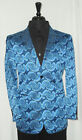 Mens Leonardi Ocean Blue Paisley Jacket Style # 801 sizes: Medium, Large