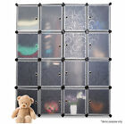 2016 DIY Cube Storage Cupboard Cabinet Wardrobe Shoe Rack Toy Book Shelf Shelves