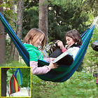 210 x 150cm Large Two Person Canvas Hammock Portable Outdoor Camping Swing Bed
