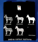 FUNNY ZEBRA COLOUR OPTIONS FRUIT OF THE LOOM COLOR ANIMAL ZOO PUNK T-SHIRT HORSE