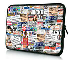 """Newspaper 15.4"""" 15.6"""" Laptop Bag Pouch Notebook Computer Cover Case For Asus"""