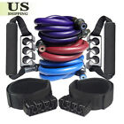 90 / 100lbs Resistance Bands Set Workout Exercise Yoga Fitness Band Elastic Tube