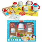 Melissa Doug Role Play Wooden Kitchen Cutting Food Pans Pizza Early Learning Set