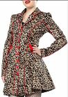 NWT SOURPUSS FANCYPANTS TRENCH COAT BETTIE PAGE Leopard JACKET Fancy pants $81