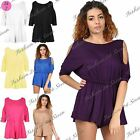 Womens Ladies Cold Cutout Off The Shoulder Rompers Jumpsuit Playsuit One Piece