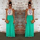 BOHO Vintage Sexy Women Summer Long Maxi Evening Party Gown Dress Beach Sundress