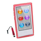 X Line Strong TPU Soft Rubber Skin Case Cover For iPod nano 7 7th 7G+Stylus R