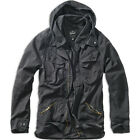 Brandit Byron Vintage Mens Security Jacket Long Sleeve Hooded Police Parka Black