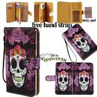 Folio Stand Card Wallet Leather Cover Case Pouch For Various LG Mobile Phones