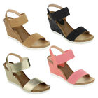 Refresh FRESH-01 New Womens Fabric Single Band Ankle Strap Platform Wedge Sandal