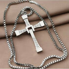 Delicate Unisex's Men Stainless Steel Cross Pendant Necklace Chain Silver/Gold