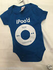 New Baby girls Blue 1  bodysuits vests I POOD