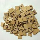 WOODEN SCRABBLE LETTERS TILES 10 100 pieces full complete set numbers Crafts