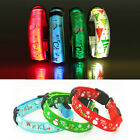Christmas LED Dog Pet Collar Flashing Luminous Adjustable Safety Light Nylon Tag