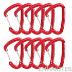 10 x 24kN Wire Gate Carabiner for Ice Climbing Rock Climbing Quickdraw Gear