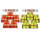 SAFETY VEST VISIBILITY REFLECTIVE STRIPS ANSI CLASS 2 ORANGE/YELLOW S/M
