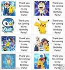 40 x Personalised Pokemon/Ash/Pikachu labels/stickers/party/cakes/sweet/bag