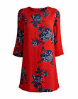 JOULES WOMENS BEYDALE TUNIC DARK RED PEONY - BNWT UK 8