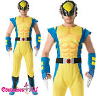 Licensed Mens Wolverine X-Men Costume Super Hero Muscle Jumpsuit X Men Outfits