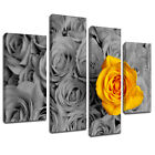 MFL377 Yellow Rose In Bouquet Canvas Wall Art Multi Panel Split Picture Print