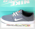 Nike SB Portmore CNVS Canvas Coo Grey White 723874-018 US 8~11 Skateboarding