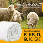 AUSTRALIAN WOOL Quilt Winter Duvet 500/700GSM Weight Luxury ALL SIZE