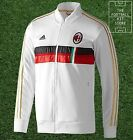 AC Milan Anthem Jacket - Official Adidas Training Jacket White - Mens All Sizes