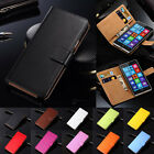 Genuine Leather Flip Case Cover Wallet Card Holder For Microsoft Nokia Lumia <br/> ** Hot Sell 5000 Sold ** For Microsoft Nokia Lumia