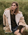 Topshop Genuine Sheepskin Shearling Fur Patchwork Coat Uk 8 10 12 14 This Season