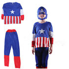 Avengers Superhero Captain Kids Fancy Dress Childrens Boys Childs Costume Outfit