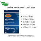 Hoover Type Y Vacuum Bags By Envirocare **Fits Hoover Wind Tunnel Upright Vacs