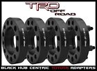 "4 Pc Toyota 1.25"" Thick Hub Centric Wheel Spacers - Tacoma Tundra 4 Runner Black"