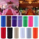 A#S0 Colorful Tissue Tulle Paper Roll Spool Craft Wedding Birthday Holiday Decor