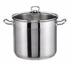 large stainless steel pot