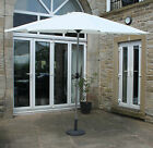 Parasol 3m Cream with Aluminium Frame With or Without Base Garden Furniture