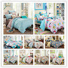 10 Design Floral Quilt/Duvet/Doona Cover Set New Cotton Single/DB/Queen/King Bed