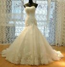 White/ivory Mermaid Lace Bridal Gown Wedding Dress Custom 4 6 8 10 12 14 16+++++