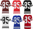 Womens Celebrity Oversized Top Varsity 85 Print Casual Baseball T-Shirt 8 10 12