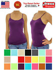 Ladies Women Basic Spaghetti Strap CAMI CAMISOLE TANK TOP Layering Plain Colors