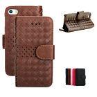 Flip Weave Wallet Leather PU Stand Case Cover For Apple iPhone 6/6 Plus 5S