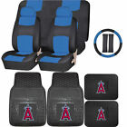 Synthetic Leather Seat Cover MLB Los Angeles Angels Anaheim Rubber Mat Universal on Ebay