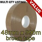 Packing parcel machine polypropylene tape rolls 48mm x 990m BROWN BUFF
