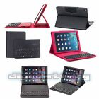 Leather Folio Case Stand with Detachable Bluetooth Keyboard for iPad Air 1 Air 2
