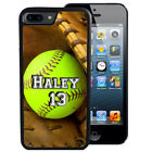 PERSONALIZED RUBBER CASE FOR iPHONE 5 5S SE 5C 6 6S 7 PLUS SOFTBALL GIRLS SPORT