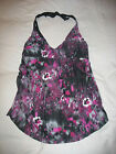 Liz Lange Tankini Top S Small Watercolor Halter Maternity Padded New