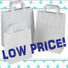 WHITE KRAFT PAPER CARRIER BAGS SOS TAKEAWAY FOOD