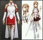 Cosplay Costume Set Halloween Womens Anime Sword Art Online SAO Asuna Yuuki NC01