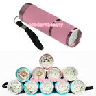 New Portable Mini 6W 9 LED Nail Art UV Flashlight Lamp Dryer Curing Gel Polish